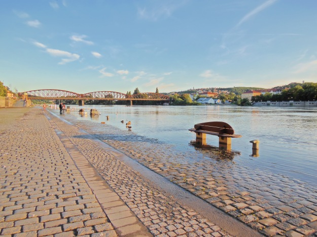 Vltava and Palackeho Bridge
